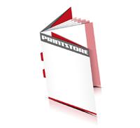 Kataloge drucken  8 Seiten Umschlag Rückenstichheftung  2 Klammern Hochformat