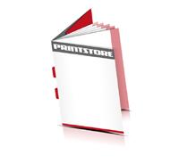 Kataloge drucken  6 Seiten Umschlag Rückenstichheftung  2 Klammern Hochformat