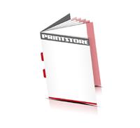 Kataloge drucken  4 Seiten Umschlag Rückenstichheftung  2 Klammern Hochformat