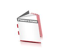 Kataloge drucken  4 Seiten Umschlag Rückenstichheftung  2 Klammern Quadratformat