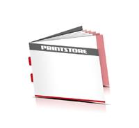 Kataloge drucken  4 Seiten Umschlag Rückenstichheftung  2 Klammern Querformat