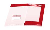 Mappen drucken stanzen & falten Visitenkarten-Taschen Beidseitige Mappen geschlossen A4 Überformat