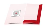Mappen drucken stanzen & falten CD-ROM Papier-Taschen Einseitige Mappen geschlossen A4 Überformat