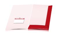 Mappen drucken stanzen & falten Visitenkarten-Taschen Einseitige Mappen geschlossen A4 Überformat