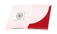 Präsentationsmappen drucken stanzen, kleben & falten CD-ROM Papier-Taschen Einseitige Präsentationsmappen geschlossen A4 Überformat