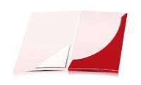 Präsentationsmappen drucken stanzen, kleben & falten Dreiecks-Taschen Einseitige Präsentationsmappen geschlossen A4 Überformat
