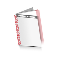Prospekte drucken Deck-Blatt  2 Seiten Schluss-Blatt  2 Seiten Prospekte mit Drahtkammbindung Drahtkamm links Hochformat