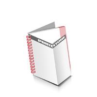 Prospekte drucken Deck-Blatt  4 Seiten Schluss-Blatt  2 Seiten Prospekte mit Drahtkammbindung Drahtkamm links Quadratformat