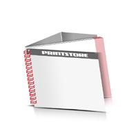 Prospekte drucken Deck-Blatt  2 Seiten Schluss-Blatt  4 Seiten Prospekte mit Drahtkammbindung Drahtkamm links Querformat