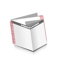 Prospekte drucken Deck-Blatt  6 Seiten Schluss-Blatt  2 Seiten Prospekte mit Drahtkammbindung Drahtkamm links Querformat