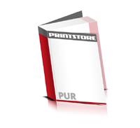 Softcover Bücher drucken  4 Seiten Umschlag PUR-Klebebindung Hochformat