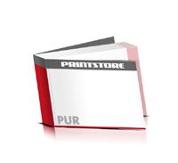 Softcover Bücher drucken  4 Seiten Umschlag PUR-Klebebindung Querformat
