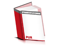 Bücher drucken Papier Buchüberzug bedruckter Vorsatz & Nachsatz gerader Buchrücken PUR-Klebebindung Buchdruck im Hochformat