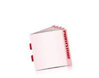 Broschüren drucken Rückenstichheftung  2 Klammern Quadratformat