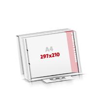 Notizblöcke drucken Flachverpackung 2-fach Bohrung Notizblöcke  A4  quer (297x210mm)