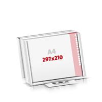 Notizblöcke drucken Flachverpackung Notizblöcke  A4  quer (297x210mm)