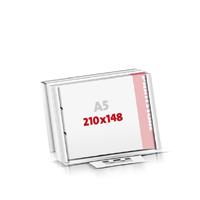 Notizblöcke drucken Flachverpackung 2-fach Bohrung Notizblöcke  A5  quer (210x148mm)
