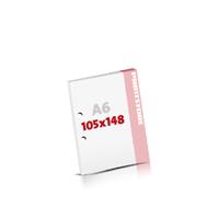 Notizblöcke drucken 2-fach Bohrung Notizblöcke  A6 (105x148mm)