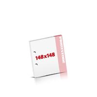 Notizblöcke drucken 2-fach Bohrung Notizblöcke  148x148mm