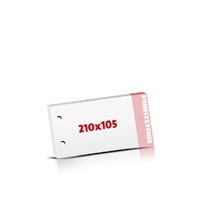 Notizblöcke drucken 2-fach Bohrung Notizblöcke  DIN Lang  quer (210x105mm)