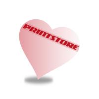 Gestanzte Flugblätter drucken Stanzwerkzeug Herz Einseitiger Online-Druck