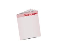 Zeitungsbeilagen drucken Rheinisches Vollformat (350x510mm) Rollenoffsetdruck