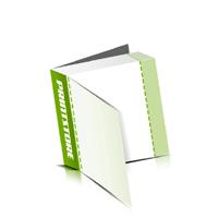 Perforierte Couponhefte bedrucken  4 Seiten Umschlag  1 Perforationslinie Heißleim-Klebebindung