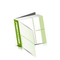 Perforierte Couponhefte bedrucken  4 Seiten Umschlag  2 Perforationslinien Heißleim-Klebebindung