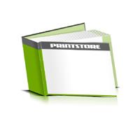 Hardcover Bücher bedrucken Papier Buchüberzug bedruckter Vorsatz & Nachsatz gerader Buchrücken Fadenheftung Buchdruck im Querformat