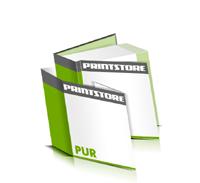 Hardcover Bücher bedrucken Schutzumschlag Papier Buchüberzug bedruckter Vorsatz & Nachsatz gerader Buchrücken PUR-Klebebindung Buchdruck im Quadratformat