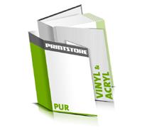 Hardcover Bücher bedrucken Acryl Buchüberzug Vinyl Buchüberzug gerader Buchrücken PUR-Klebebindung Buchdruck im Hochformat
