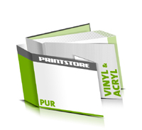 Hardcover Bücher bedrucken Acryl Buchüberzug Vinyl Buchüberzug bedruckter Vorsatz & Nachsatz gerader Buchrücken PUR-Klebebindung Buchdruck im Querformat