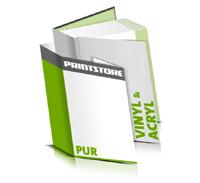 Hardcover Bücher bedrucken Acryl Buchüberzug Vinyl Buchüberzug bedruckter Vorsatz & Nachsatz gerader Buchrücken PUR-Klebebindung Buchdruck im Hochformat