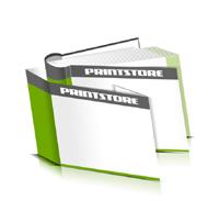 Hardcover Bücher bedrucken Schutzumschlag Papier Buchüberzug runder Buchrücken Fadenheftung Buchdruck im Querformat