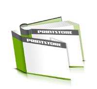 Hardcover Bücher bedrucken Schutzumschlag Papier Buchüberzug bedruckter Vorsatz & Nachsatz runder Buchrücken Fadenheftung Buchdruck im Querformat