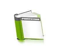 Hardcover Bücher bedrucken Papier Buchüberzug runder Buchrücken Fadenheftung Buchdruck im Quadratformat
