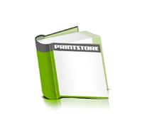 Hardcover Bücher bedrucken Papier Buchüberzug bedruckter Vorsatz & Nachsatz runder Buchrücken Fadenheftung Buchdruck im Quadratformat