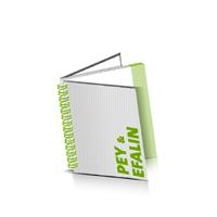Hardcover Broschüren bedrucken Efalin oder Pey Buchüberzug Wire-O Bindung Quadratformat