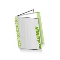 Hardcover Broschüren bedrucken Leinen Buchüberzug Wire-O Bindung Hochformat