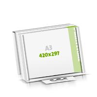 Seminarblöcke bedrucken Microwellkarton Seminarblöcke  A3  quer (420x297mm)