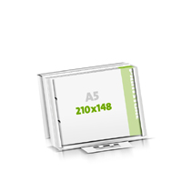 Seminarblöcke bedrucken Microwellkarton 2-fach Bohrung Seminarblöcke  A5  quer (210x148mm)