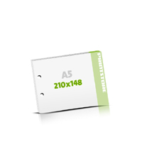 Seminarblöcke bedrucken 2-fach Bohrung Seminarblöcke  A5  quer (210x148mm)