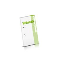 Seminarblöcke bedrucken 2-fach Bohrung Seminarblöcke  DIN Lang (105x210mm)