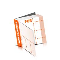 Perforierte Gutscheinhefte drucken  4 Seiten Umschlag  4 Perforationslinien PUR-Klebebindung