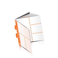 Perforierte Gutscheinhefte drucken  4 Seiten Umschlag  3 Perforationslinien Rückendrahtheftung