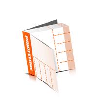 Perforierte Gutscheinhefte drucken  4 Seiten Umschlag  5 Perforationslinien Heißleim-Klebebindung