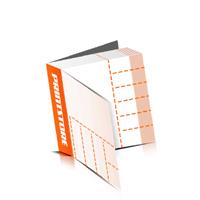 Perforierte Gutscheinhefte drucken  4 Seiten Umschlag  6 Perforationslinien Heißleim-Klebebindung