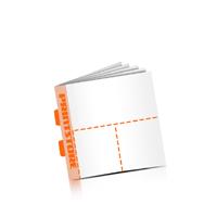 Perforierte Gutscheinhefte drucken OHNE Umschlag  3 Perforationslinien Druck mit bis zu  6 Druckfarben Rückendrahtheftung