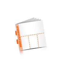 Perforierte Gutscheinhefte drucken OHNE Umschlag  4 Perforationslinien Druck mit bis zu  6 Druckfarben Rückendrahtheftung