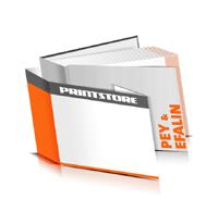 Hardcover Bücher drucken Efalin Deckeleinband Pey Deckeleinband gerader Buchrücken Fadenheftung Buchdruck im Querformat